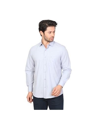 White Stone Slim Fit Yazlık Gömlek Gri Gri